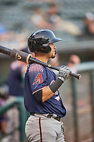 Ildemaro Vargas (1) of the Reno Aces during the game against the Salt Lake Bees at Smith's Ballpark on August 24, 2021 in Salt Lake City, Utah. The Aces defeated the Bees 6-5. (Stephen Smith/Four Seam Images)