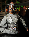 """Tommie Harper, a cast member of """"The Wiz"""" from the Ensemble Theater at the Social Book 2010 launch party at Discovery Green Park Thursday Jan. 21,2010.(Dave Rossman/For the Chronicle)"""