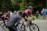 Pavel Sivakov (RUS) leads team mate Egan Bernal (COL) Team Ineos into the final bend before the finish of Stage 3 of the Route d'Occitanie 2020, running 163.5km from Saint-Gaudens to Col de Beyrède, France. 3rd August 2020. <br /> Picture: Colin Flockton | Cyclefile<br /> <br /> All photos usage must carry mandatory copyright credit (© Cyclefile | Colin Flockton)