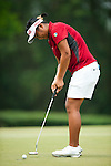 CHON BURI, THAILAND - FEBRUARY 17:  Numa Gulyanamitta of India putts on the 8th hole during day two of the LPGA Thailand at Siam Country Club on February 17, 2012 in Chon Buri, Thailand.  Photo by Victor Fraile / The Power of Sport Images