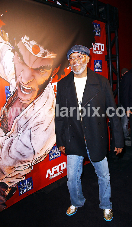 """**ALL ROUND PICTURES FROM SOLARPIX.COM**.**SYNDICATION RIGHTS FOR UK, AUSTRALIA, DENMARK, PORTUGAL, S. AFRICA, SPAIN & DUBAI (U.A.E) ONLY**.The Hollywood actor Samuel L.Jackson attended the  """"Afro Samurai"""" Launch Party For XBox 360 And Playstation 3 Arrivals at the Geisha House in Hollywood, California in the USA. ..JOB REF: 8345-PHZ/Ortega    DATE:27-01-09 .**MUST CREDIT SOLARPIX.COM OR DOUBLE FEE WILL BE CHARGED* *UNDER NO CIRCUMSTANCES IS THIS IMAGE TO BE REPRODUCED FOR ANY ONLINE EDITION WITHOUT PRIOR PERMISSION*"""