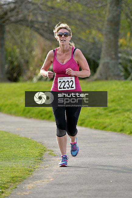 NELSON, NEW ZEALAND - SEPTEMBER 30: 5/10km Run Walk at Saxton Sports Grounds in Stoke during the NZCT 2015 South Island Masters Games, September 30, 2015 in Nelson, New Zealand. (Photo by Barry Whitnall/Shuttersport Limited)