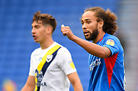 Marcus Harness of Portsmouth right gives the thumbs up during Portsmouth vs Oxford United, Sky Bet EFL League 1 Play-Off Semi-Final Football at Fratton Park on 3rd July 2020