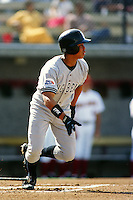 Termmel Sledge of Cal State Long Beach during a NCAA baseball game against the USC Trojans at USC circa 1999 in Los Angeles, California. (Larry Goren/Four Seam Images)