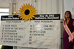 Baltimore, MD- May 16: 137th Preakness Post Positions for the 137th Preakness at Pimlico Race Course in Baltimore, MD on 05/16/12. (Ryan Lasek/ Eclipse Sportswire)