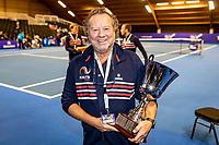 Alphen aan den Rijn, Netherlands, December 22, 2019, TV Nieuwe Sloot,  NK Tennis, Henk Koster with the trophy<br /> Photo: www.tennisimages.com/Henk Koster