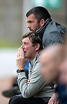 St Johnstone v Sunderland…15.07.17… McDiarmid Park… Pre-Season Friendly<br />Tommy Wright and Callum Davidson watch the game<br />Picture by Graeme Hart.<br />Copyright Perthshire Picture Agency<br />Tel: 01738 623350  Mobile: 07990 594431