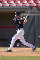 Luke Gesell (28) of High Point Christian Academy in High Point, North Carolina playing for the New York Yankees scout team at the South Atlantic Border Battle at Doak Field on November 2, 2014.  (Brian Westerholt/Four Seam Images)