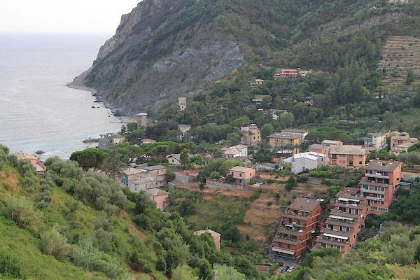 Monterosa in Cinque Terre, Mediterranean Coast, Italy.