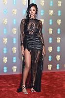 Maya Jama<br /> arriving for the BAFTA Film Awards 2019 at the Royal Albert Hall, London<br /> <br /> ©Ash Knotek  D3478  10/02/2019