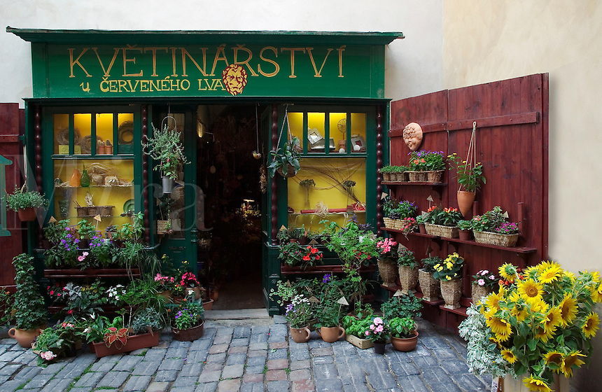 Flower shop, Prague, Czech Republic