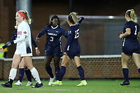 CHAPEL HILL, NC - NOVEMBER 16: Zoe Redei #15 of the University of North Carolina celebrates her goal with Ru Mucherera #3 during a game between Belmont and North Carolina at UNC Soccer and Lacrosse Stadium on November 16, 2019 in Chapel Hill, North Carolina.