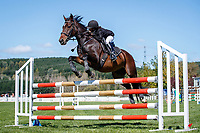 NZL-Nevaeh Miller rides Billion Dollar Buzz. Class 26: Pony 1.05m Ranking Class. 2021 NZL-Easter Jumping Festival presented by McIntosh Global Equestrian and Equestrian Entries. NEC Taupo. Saturday 3 April. Copyright Photo: Libby Law Photography