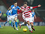 St Johnstone v Hamilton Accies…28.01.17     SPFL    McDiarmid Park<br />Steven MacLean and Craig Watson<br />Picture by Graeme Hart.<br />Copyright Perthshire Picture Agency<br />Tel: 01738 623350  Mobile: 07990 594431