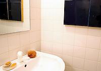 minimal white bathroom