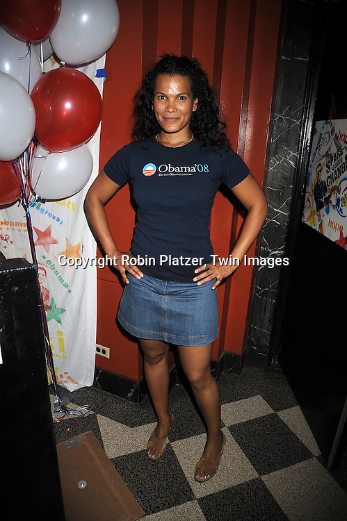 """One Life to Live's January LaVoy ..at The """"Spare Some Change:NYC Artists for Barack Obama""""  fundraiser on August 11, 2008 at The Fifth Floor Theatre at New York University. ....Robin Platzer, Twin Images"""
