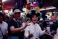 American tourists flock to the quirky border town to buy pharmaceuticals, see the dentists and to drink and buy piñatas on Friday night. Donning sombreros, they join mariachi bands in song.  Crossing the bridge from Laredo, Texas, the first town in Mexico on the Pan American highway is Nuevo Laredo.