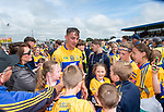 Peter Duggan of Clare is swarmed by well wishers following their Munster championship game against Limerick in Ennis. Photograph by John Kelly.