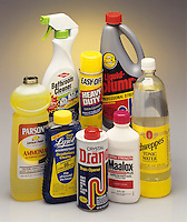 BASES IN COMMON HOUSEHOLD PRODUCTS<br /> A Base Is The Reactive Complement To An Acid<br /> A base is a chemical compound that either donates H+ ions or absorbs hydrogen ions when dissolved in water. It is considered a proton accepter. Bases are bitter tasting & slippery feeling, properties commonly found in soap & household cleaners.