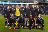 Bridgeview, IL - Saturday March 31, 2018: Chicago Red Stars Starting XI during a regular season National Women's Soccer League (NWSL) match between the Chicago Red Stars and the Portland Thorns FC at Toyota Park.