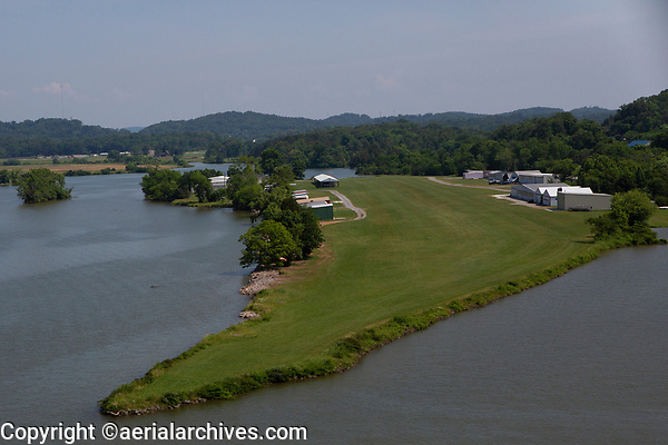 aerial photograph of Sky Ranch Airport (TN98), Knox County, Tennessee