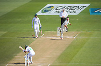 Pakistan's Zafar Gohar ducks Matt Henry's bouncer during day four of the second International Test Cricket match between the New Zealand Black Caps and Pakistan at Hagley Oval in Christchurch, New Zealand on Wednesday, 6 January 2021. Photo: Dave Lintott / lintottphoto.co.nz