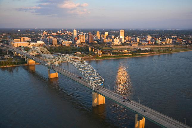 Hernado Desoto Bridge and Memphis skyline