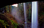 Middle North Falls, Silver Springs State Park, Oregon, view from behind falls.