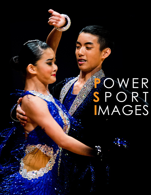 Ita Hong Wong and Heng Jin of Macau during the Day 2 of the WDSF GrandSlam Hong Kong 2014 on June 01, 2014 at the Queen Elizabeth Stadium Arena in Hong Kong, China. Photo by AItor Alcalde / Power Sport Images