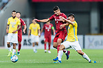Jiangsu FC Midfielder Liu Jianye (R) fights for the ball with Shanghai FC Forward Elkeson De Oliveira Cardoso (L) during the AFC Champions League 2017 Round of 16 match between Shanghai SIPG FC (CHN) vs Jiangsu FC (CHN) at the Shanghai Stadium on 24 May 2017 in Shanghai, China. Photo by Marcio Rodrigo Machado / Power Sport Images