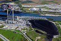 aerial photograph Joliet coal power generation plant, Joliet, Illinois