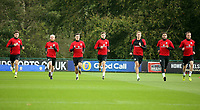 Pictured: (L-R) Ben Davies, Jonathan Williams, Tom Lawrence, David Brooks, David Edwards, Hal Robson-Kanu and MArley Watkins. Monday 02 October 2017<br />Re: Wales football training, ahead of their FIFA Word Cup 2018 qualifier against Georgia, Vale Resort, near Cardiff, Wales, UK.