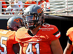 Oklahoma State Cowboys linebacker Nico Ornelas (41) in action during the game between the Baylor Bears and the Oklahoma State Cowboys at the Boone Pickens Stadium in Stillwater, OK. Oklahoma State defeats Baylor 59 to 24.