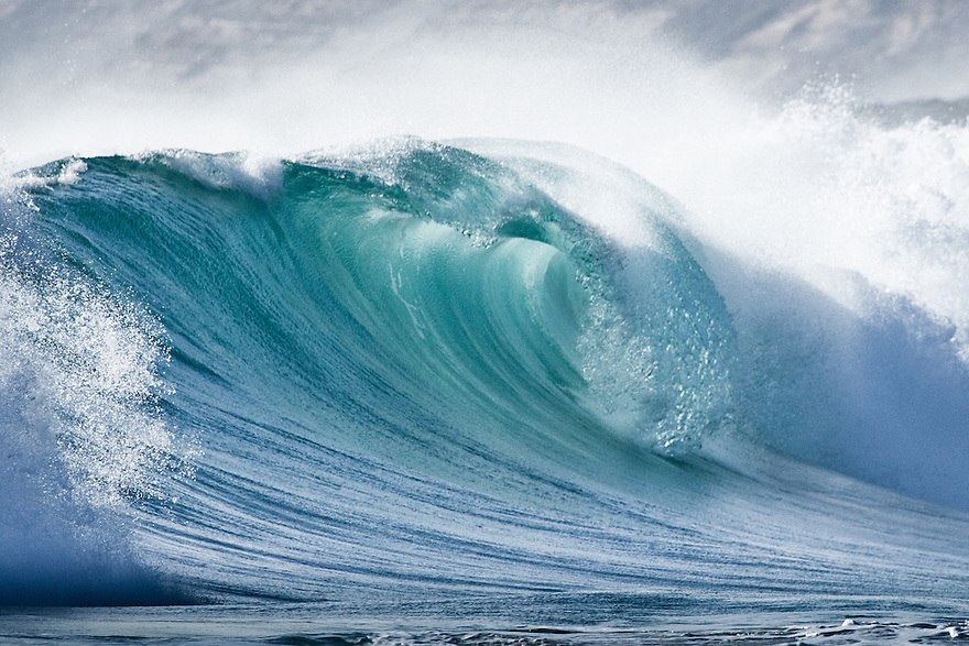 Wave breaking Greenly Beach