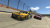 #66: Timmy Hill, Motorsports Business Management, Toyota Camry, #95: Christopher Bell, Leavine Family Racing, Toyota Camry<br /> <br /> (MEDIA: EDITORIAL USE ONLY) (This image is from the iRacing computer game)