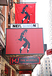 """""""MJ The Musical"""" - Theatre Marquee"""