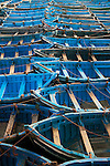 Boats in the harbor of Essaouira, Morocco