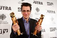 Philippe Falardeau, winner of the<br /> Jutras for  Best director and the Jutra for  best scenario for CONGORAMA ;  wchich also won the Best movie JUTRA.<br /> <br /> Prix Jutras Meilleure réalisation et meilleur scénario pour CONGORAMA<br /> <br /> photo : Pierre Roussel (c)  Images Distribution