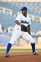 August 19,2010 Brandon Durden (36) in action during the MiLB game between the Midland RockHounds and the Tulsa Drillers at OneOk Field in Tulsa Oklahoma.