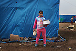 ARBAT, IRAQ: Raad Allawe, 10, from Derzor, Syria, is pictured in a refugee camp in Arbat, Iraq. ..The semi-autonomous region of Iraqi Kurdistan has accepted refugees from the conflict in Syria into several camps. Arbat lies near Sulaimaniyah in northeastern Iraq, approximately 500 kilometres from the Syrian border...Photo by Besaran Tofiq/Metrography