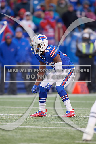 Buffalo Bills Rafael Bush (20) during an NFL football game against the New York Jets, Sunday, December 9, 2018, in Orchard Park, N.Y.  (Mike Janes Photography)