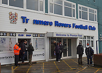 Picture by Steve Flynn/AHPIX.com, Football: The FA Cup 3rd Round match Tranmere Rovers -V- Swansea City  at Prenton Park, Birkenhead, Merseyside, England on copyright picture Howard Roe 07973 739229<br /> <br /> General view of the Prenton Park entrance