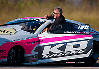 Oct 19, 2019; Ennis, TX, USA; NHRA pro stock driver Kenny Delco during qualifying for the Fall Nationals at the Texas Motorplex. Mandatory Credit: Mark J. Rebilas-USA TODAY Sports
