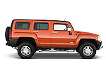 Passenger side profile view of a 2008 Hummer H3 Alpha SUV.