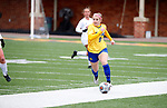 BROOKINGS, SD - MARCH 14: Cecilia Limongi #9 from South Dakota State controls the ball against Denver during their match at Dana J. Dykhouse Stadium on March 14, 2021 in Brookings, South Dakota. (Photo by Dave Eggen/Inertia)