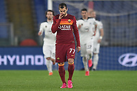 Dejection of Henrikh Mkhitaryan of Roma  during the Tim Cup final eight football match between AS Roma and AC Spezia at Olimpico stadium in Roma (Italy), Jannuary 19th, 2021. Photo Antonietta Baldassarre / Insidefoto
