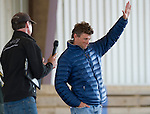 April 25, 2014: Boyd Martin waves to the crowd at the Thoroughbreds For All event, sponsored by New Vocations, at West Wind Farm in Lexington, KY. Scott Serio/ESW/CSM
