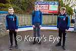 Looking forward to their return to St Michaels College Listowel on Monday.  L to r: Adam Lynch, Sonny Culhane and James Roche.