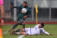 Italy's Claud Adjapong is tackled by Armenia's Edgar Movsisyan <br /> Catania 19-11-2019 Stadio Angelo Massimino <br /> UEFA Under 21 European Championship 2021 qualifier group 1 <br /> Italy - Armenia<br /> Photo Carmelo Imbesi / Insidefoto