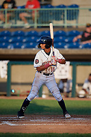 Mahoning Valley Scrappers Brayan Rocchio (11) at bat during a NY-Penn League game against the Hudson Valley Renegades on July 15, 2019 at Eastwood Field in Niles, Ohio.  Mahoning Valley defeated Hudson Valley 6-5.  (Mike Janes/Four Seam Images)